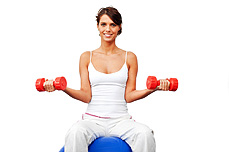 Jenter, tren vekter når du slanker deg
